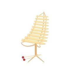 Alto xylophone icon cartoon style vector