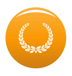 Anniversary wreath icon orange vector