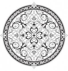 Arabic floral pattern vector image