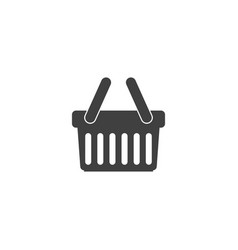 basket icon shopping sign online vector image