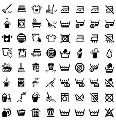 big cleaning icons set vector image vector image