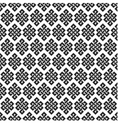 Black and white endless knot seamless pattern vector