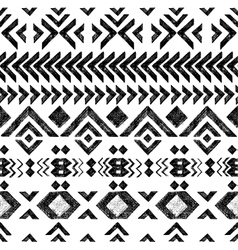 black and white tribal ornament vector image