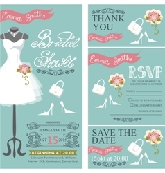 Bridal shower invitationBridal dressbouquet vector image