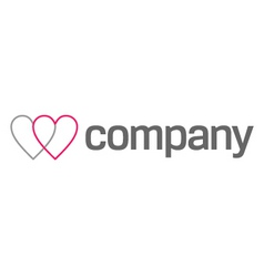 Cardiologist logo heart icon vector