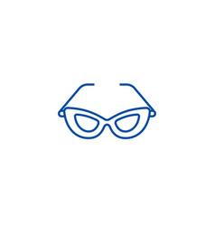 cat eye glasses line icon concept cat eye glasses vector image