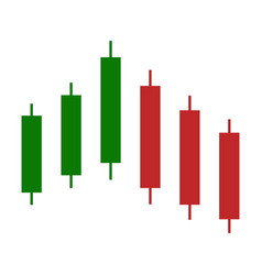 Chart of the rise of trading with candles vector