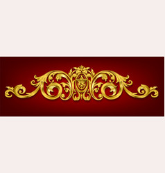 classical decorative elements in baroque style ho vector image