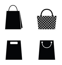 collection of shopping bag icons vector image