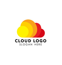 colorful cloud logo design template vector image