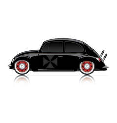 compact black hot-rod vector image