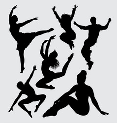 Dance silhouette vector