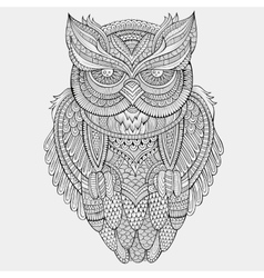 Decorative ornamental Owl vector image