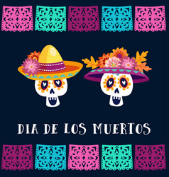 dia de los muertos day of the dead or halloween vector image