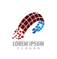digital abstract technology logo concept design vector image