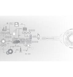 Digital communication network system computer vector