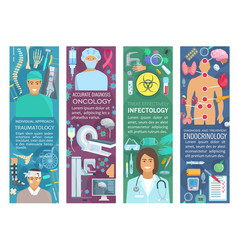 Doctor banners of medicine and health care vector