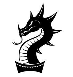 Dragon head sign vector