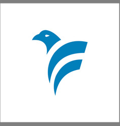 Eagle bird logo design animals vector