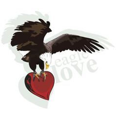 Eagle heart vector