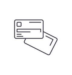 electronic money line icon concept electronic vector image