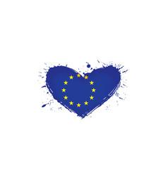 European union flag on a vector
