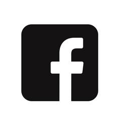 facebook logo icon social media symbol vector image