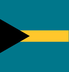 Flag in colors of bahamas image vector