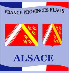 Flag of french province alsace vector
