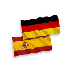Flags spain and germany on a white background vector