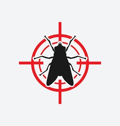 Fly icon red target vector
