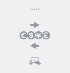 Foreign currency exchange service - minimal icon vector