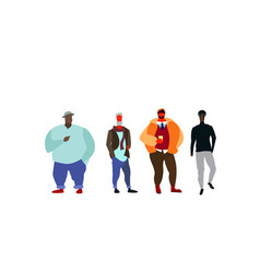 Group mix race people standing together casual vector