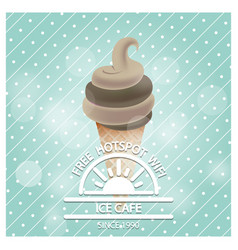ice cafe design card with typography vector image