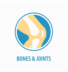 knee icon logo design template vector image