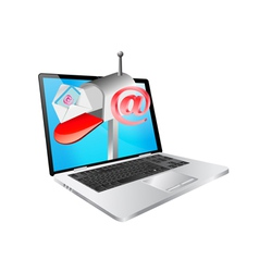 laptop and email vector image