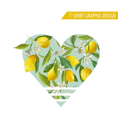 Lemon Fruits Graphic Design T-Shirt Fashion Prints vector image