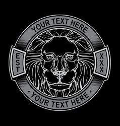 lion logo black white vector image
