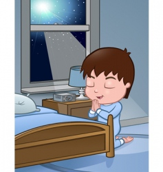 little boy praying vector image