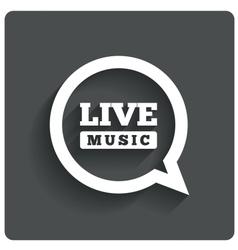Live music icon Speech bubble label Karaoke vector image