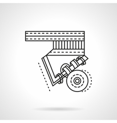 Longboard suspension flat line icon vector image