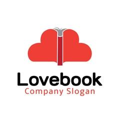 Love Book Design vector