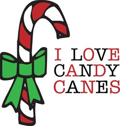 Love Candy Canes vector image