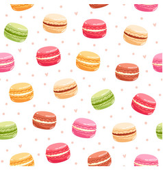 Macarons seamless pattern vector