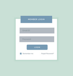 minimal white login form design template vector image