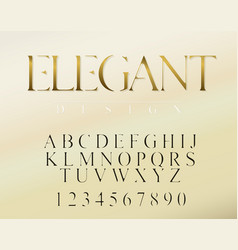 modern elegant font and alphabet abc typography vector image