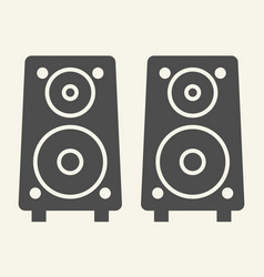 music columns solid icon sound system vector image