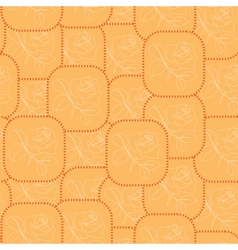 orange seamless pattern with roses vector image