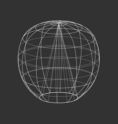 Outline sphere on the black background vector