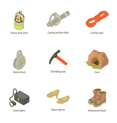 Output icons set isometric style vector